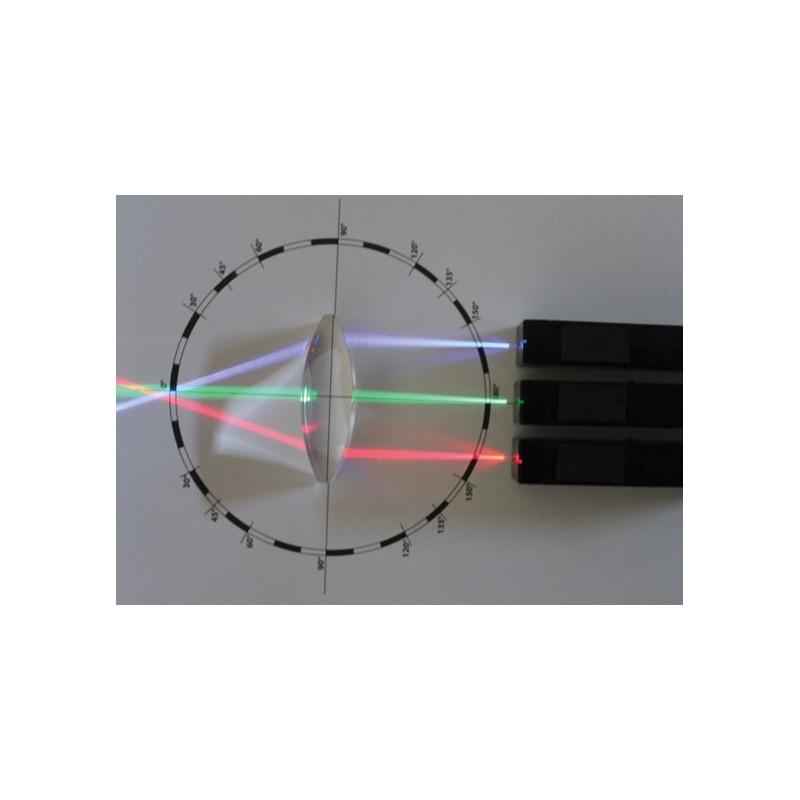 Expérimentations d'optique - Set de 7 lentilles optiques et 3 projecteurs LED colorées + livret de la méthode PNL