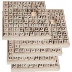 5 plateaux de tables de multiplication