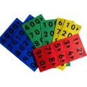 Cartes nombres en plastique pour enfant