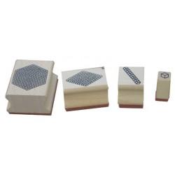 Base 10 - 4 tampons bois à encrer
